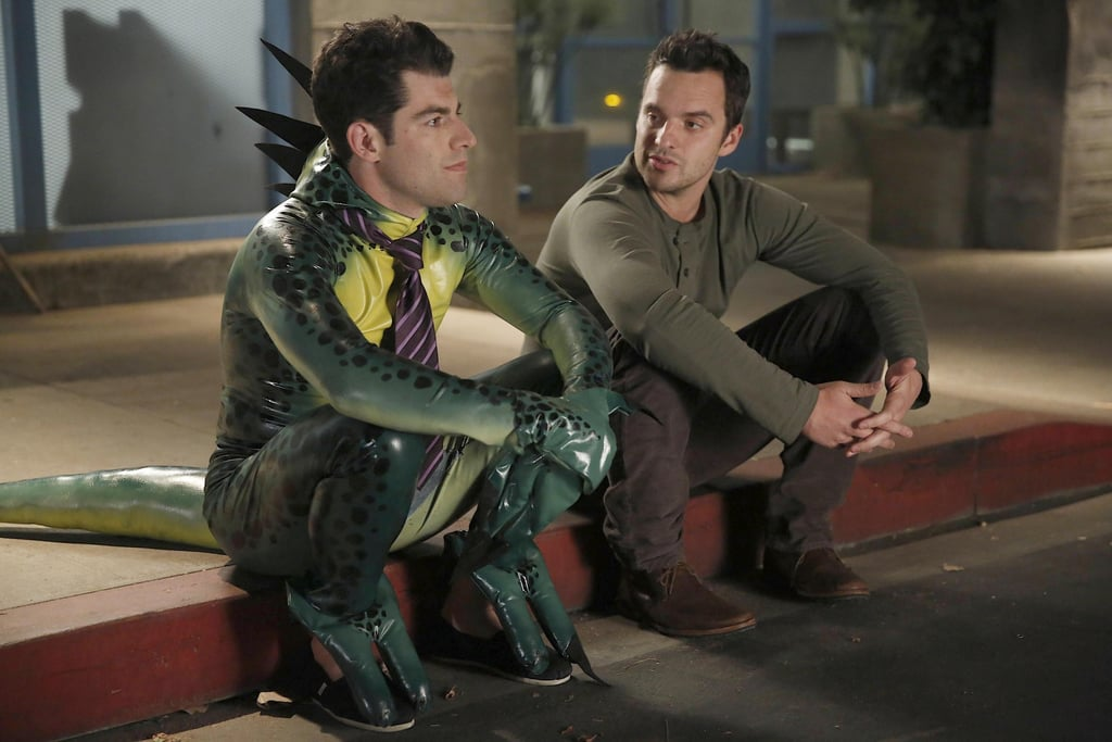 New Girl Halloween episodes always have to include a good heart-to-heart.