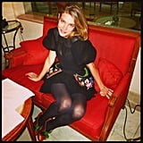 Natalia Vodianova sat pretty in Paris. Source: Twitter user DerekBlasberg