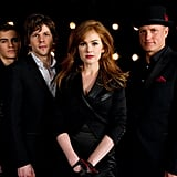Dave Franco,  Jesse Eisenberg, Isla Fisher, and Woody Harrelson in Now You See Me.