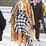 Blake Lively Wearing Christian Louboutin Black Heels