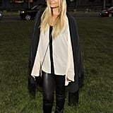 Nicole donned a contrast-trim blouse, oversize blazer, slick leggings, and fedora for a Summer 2011 fashion event at the Hollywood Forever Cemetery.