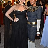 Pictured: Sarah Silverman and Janelle Monáe