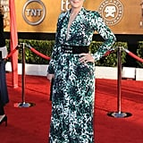 Meryl belted her Balenciaga maxi dress for the 2010 Screen Actors Guild Awards.