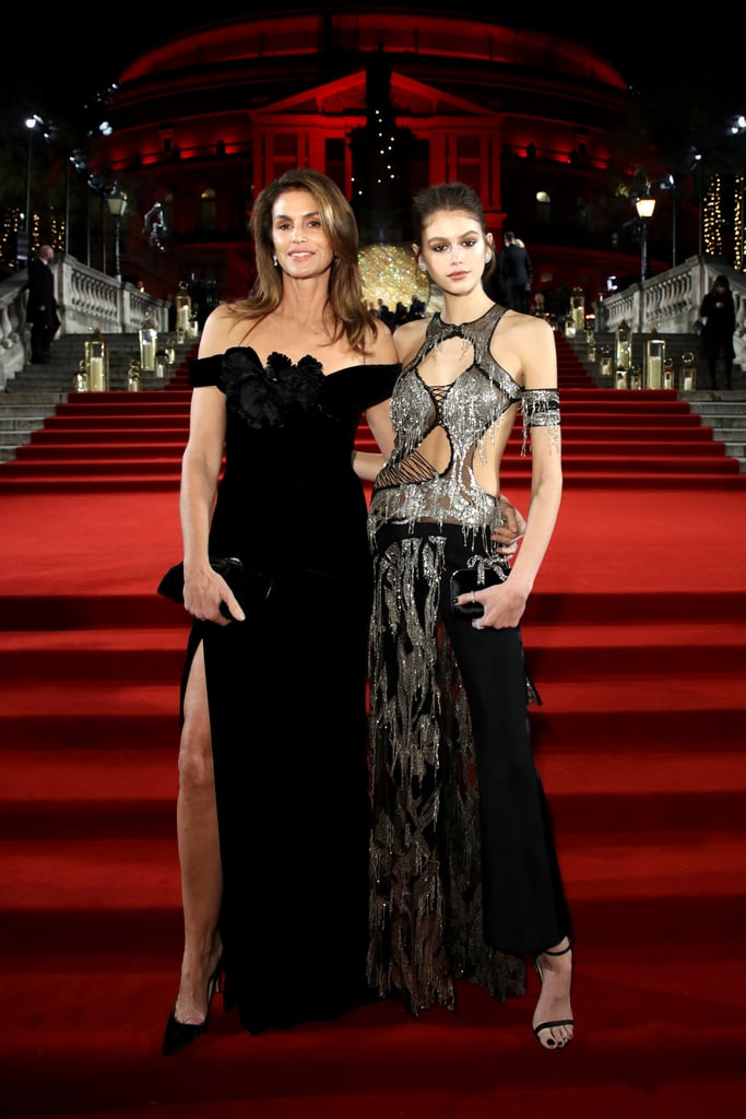 Cindy Crawford and Kaia Gerber Wearing Dramatic Gowns in 2018