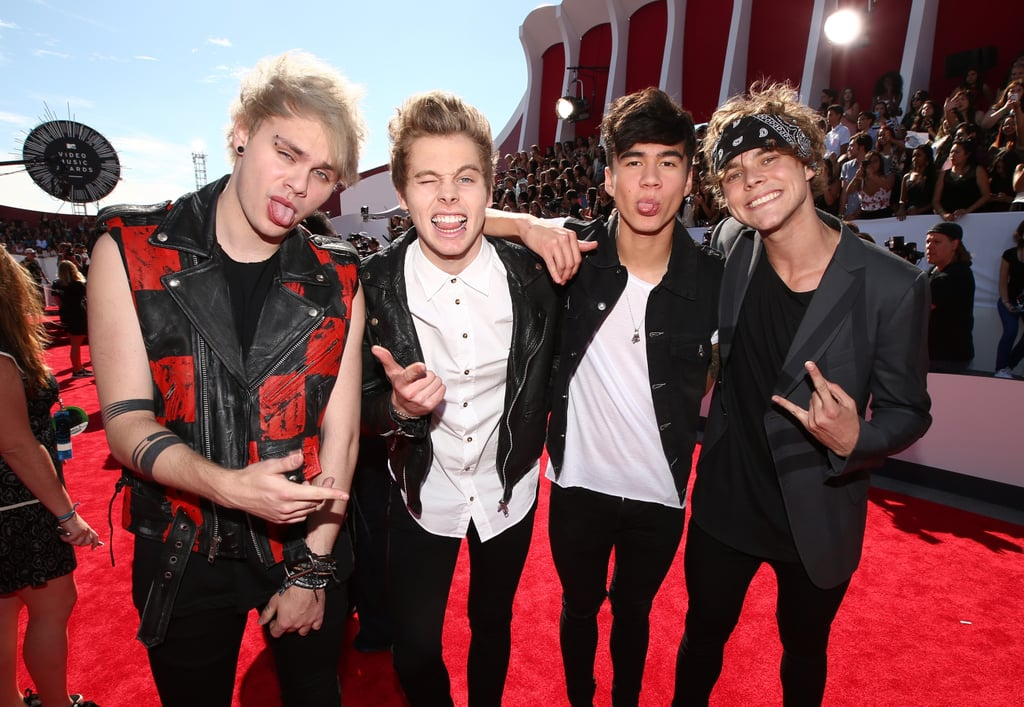 5 seconds of summer at the 2014 mtv video music awards popsugar the ceremony for the 2014 mtv video music awards hasnt even started but m4hsunfo