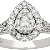 Neil Lane 14ct White Gold Diamond Pear Diamond Ring