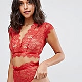 ASOS Eyelash Lace Crop Bralet