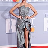 Amber Davies on the 2020 BRIT Awards Red Carpet