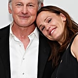 Jennifer Garner rested her head on former Alias costar Victor Garber's shoulder.