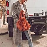 Longline Plaid Coat