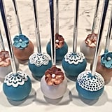 Shabby Chic Rustic Flower and Lace Cake Pops
