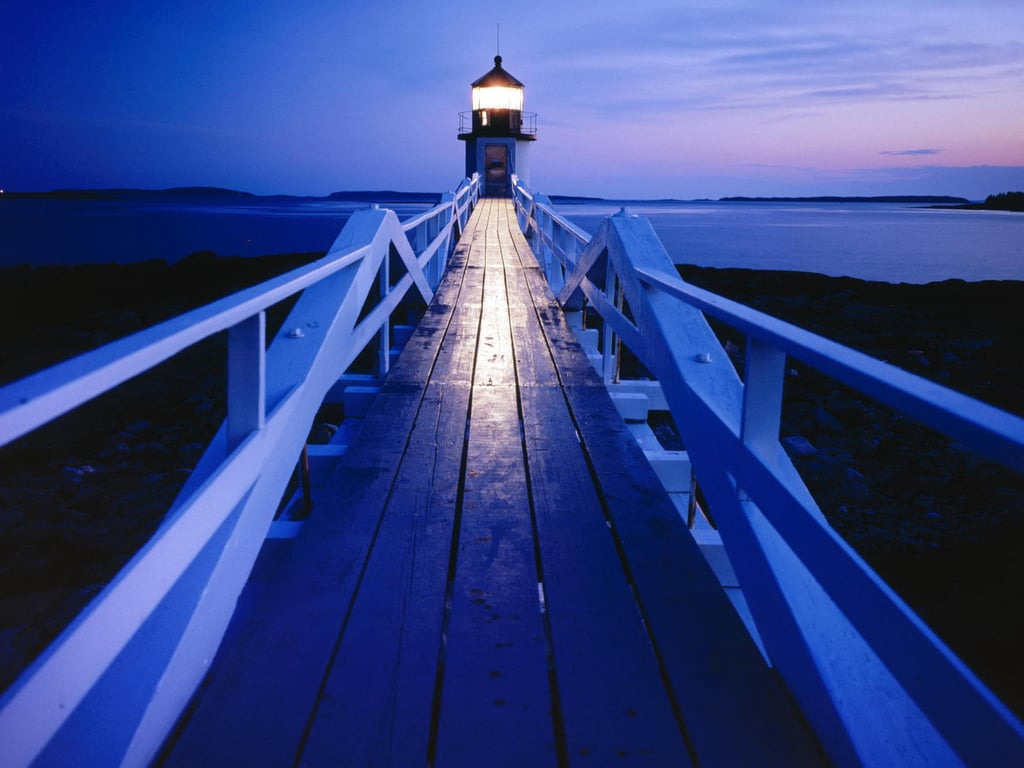 Walk the grounds of the Marshall Point Lighthouse in Maine.