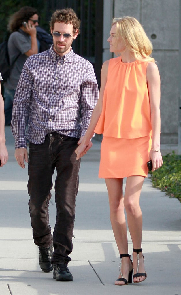 Kate Bosworth holds hands with boyfriend Michael Polish.