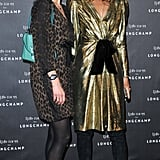 Longchamp design director Sophie Delafontaine  and Carine Roitfeld