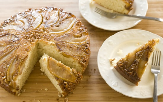 Pear and Walnut Upside Down Cake
