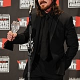 Christian Bale Shows His Softer Side After a Best Supporting Actor Win