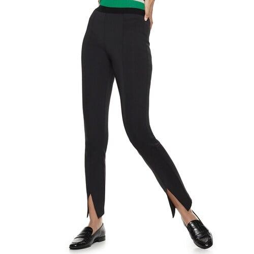 Nine West Pull-On High-Waisted Skinny Scuba Pants