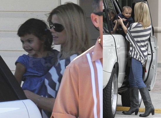 Photos of Elin Nordegren With Sam and Charlie Woods as New Details Regarding Rachel Uchitel Come Out