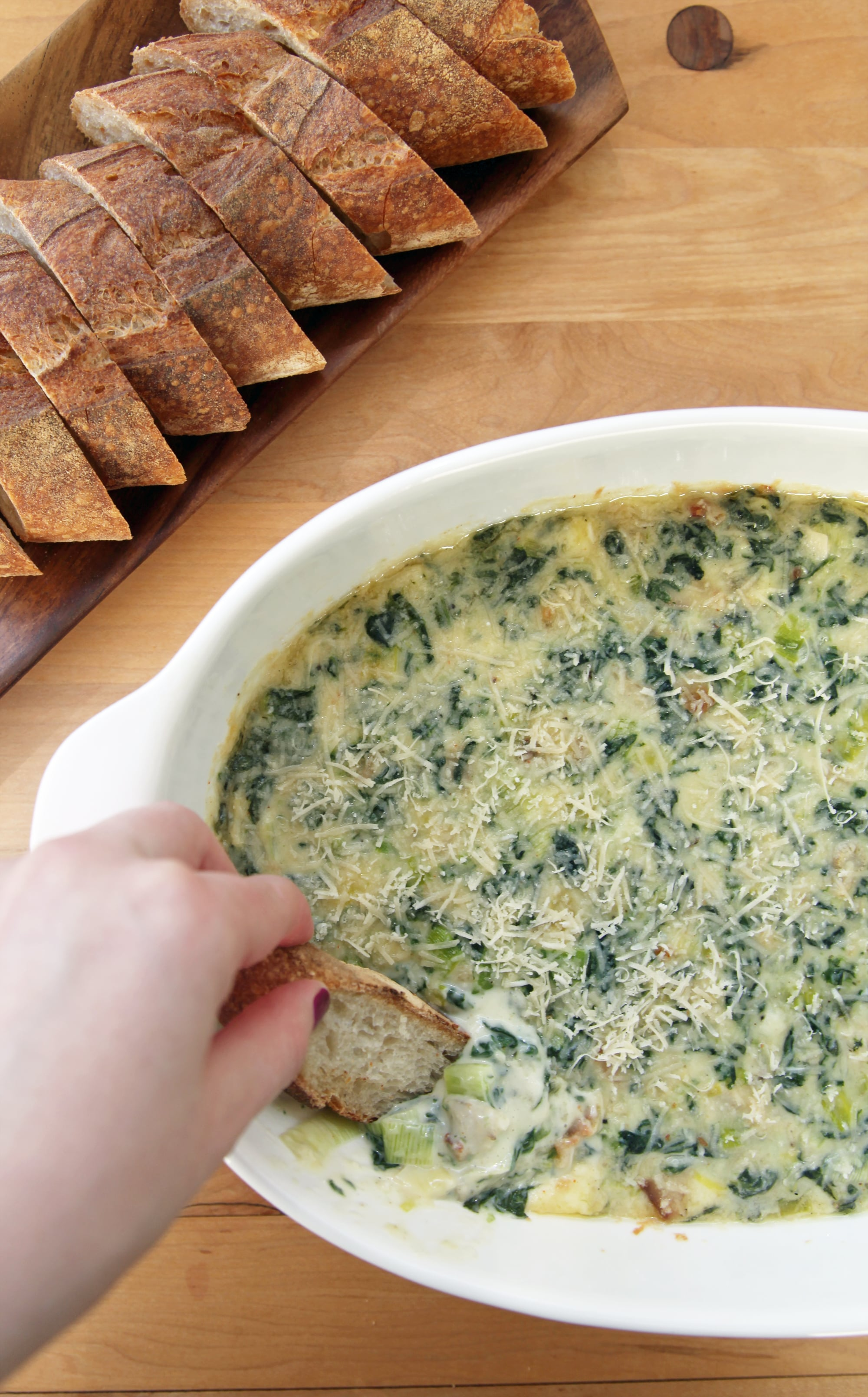 Emeril S Best Spinach Artichoke Dip Recipe Popsugar Food