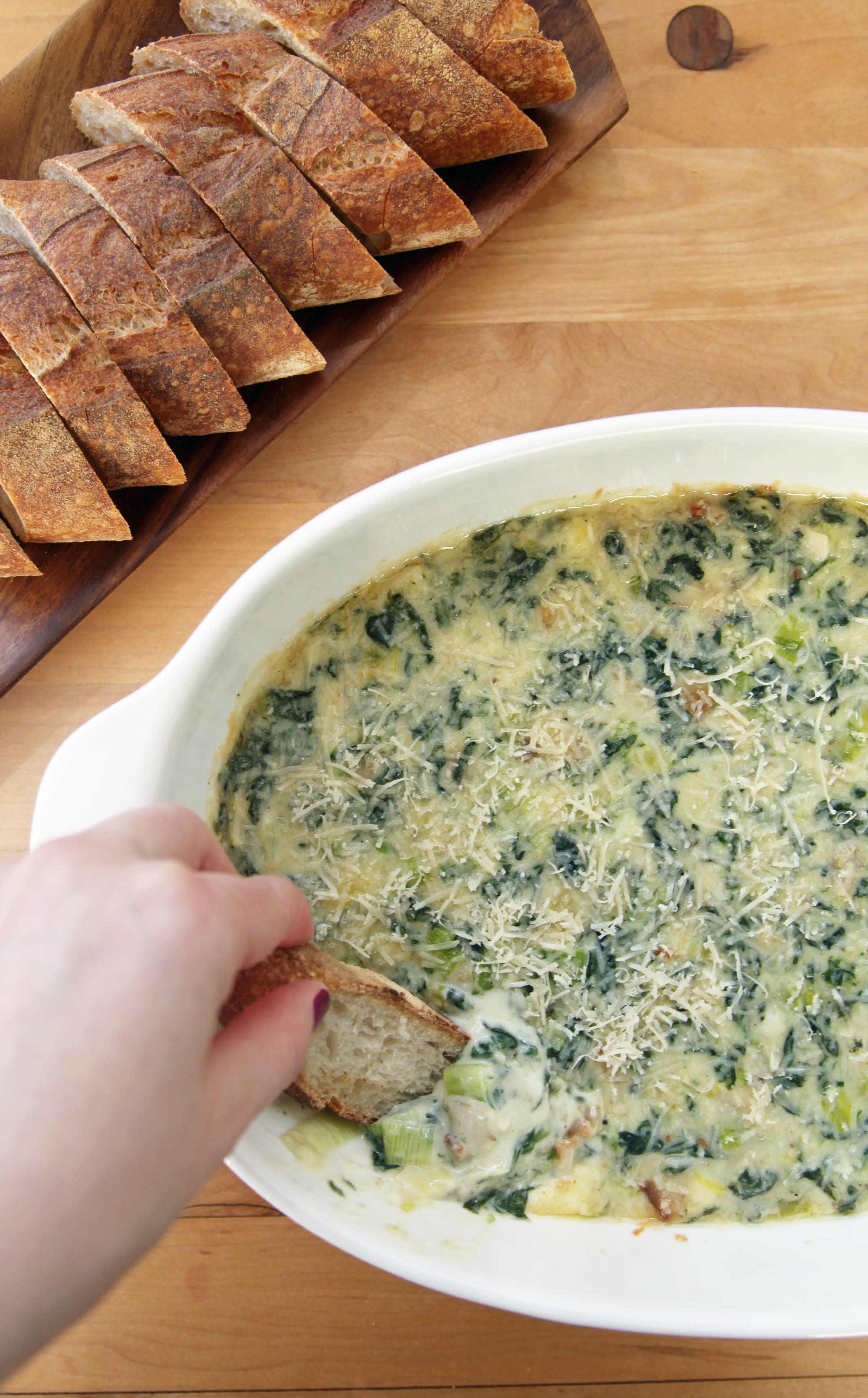 Emeril S Best Spinach Artichoke Dip Recipe Popsugar Food