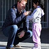 Prince Harry made a new friend as he continued his tour of Chile.
