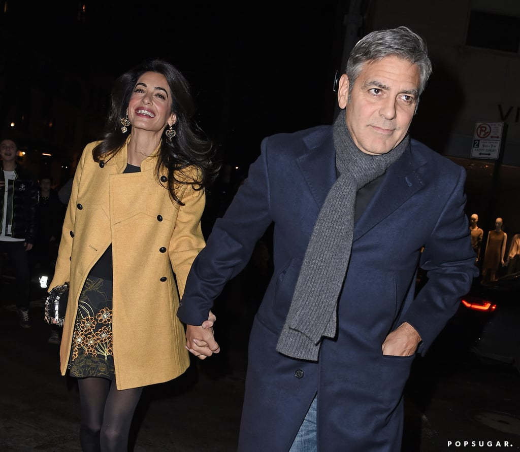 George Clooney and Amal Alamuddin Holding Hands | Pictures
