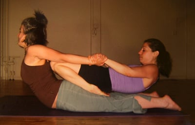 Partner Yoga Pose: Cobra Hero