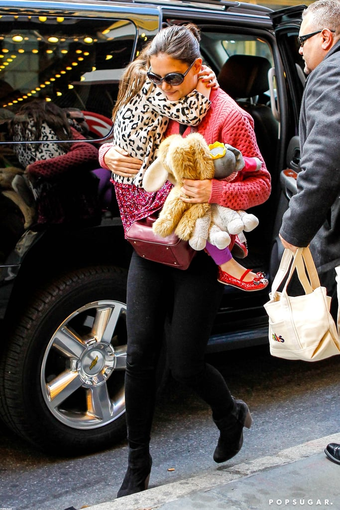 Katie Holmes brought Suri Cruise to her rehearsal.