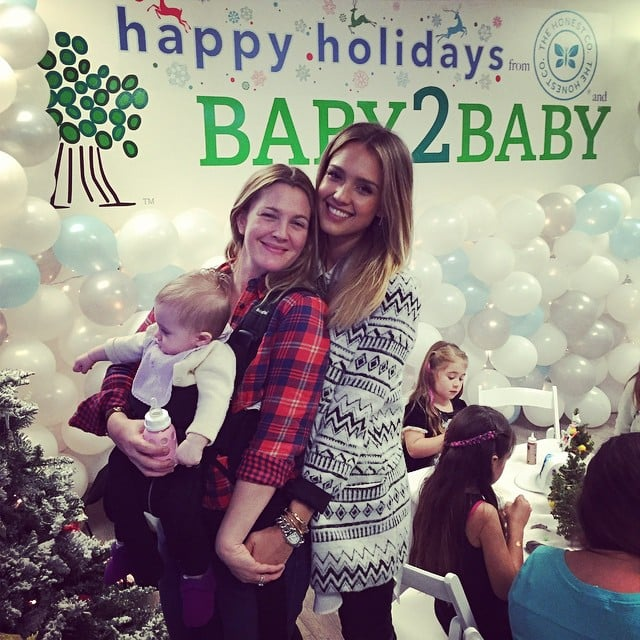 Drew Barrymore and Frankie Kopelman joined Jessica Alba for