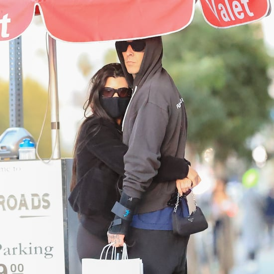 Kourtney Kardashian Cuddles Up to Travis Barker in LA