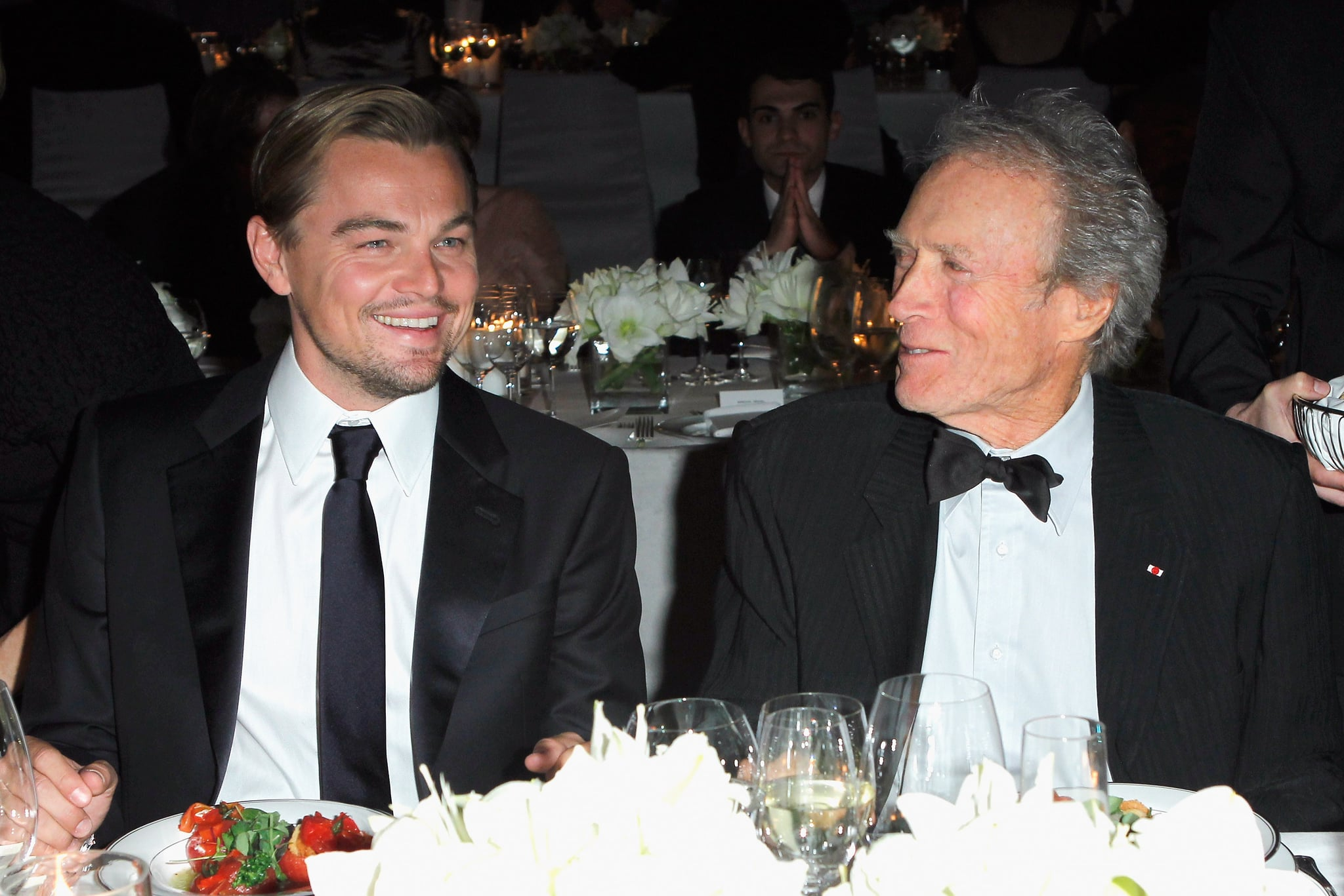 Leonardo DiCaprio sat down to dinner with his J. Edgar director Clint Eastwood.