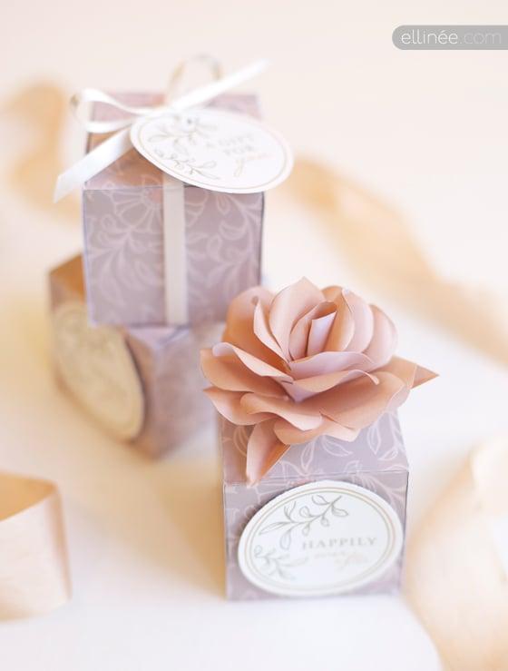 Wedding Favor Box and Tags