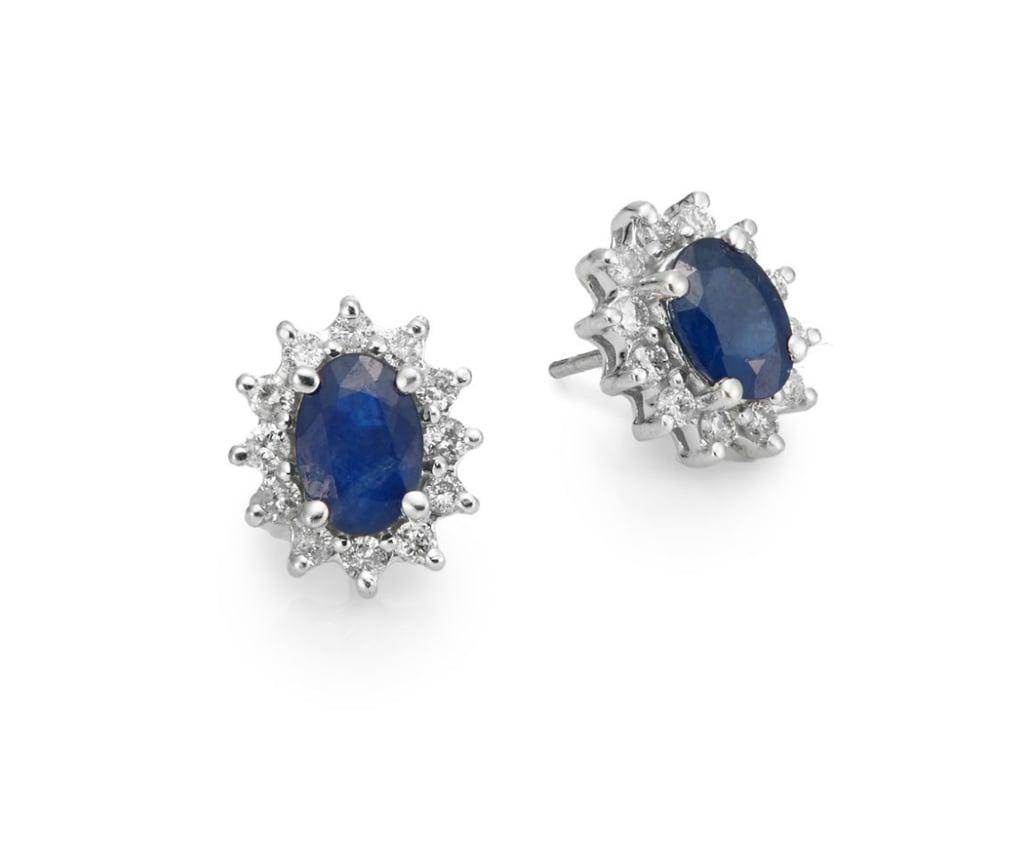 Effy Final Call Sapphire Diamond & 14K White Gold Sunburst Stud Earrings ($1,238, originally $2,475)