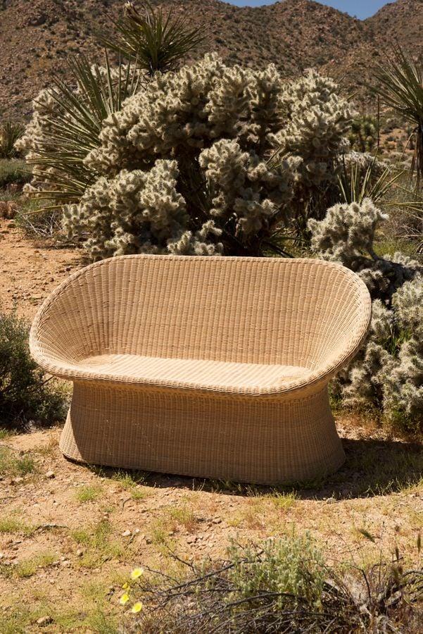 Pierce Rattan Two-Seater Chair