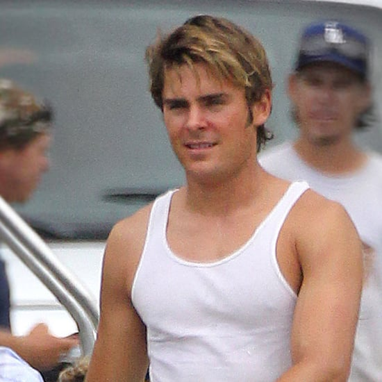 Pictures of Zac Efron Filming The Paperboy