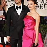Natalie Portman and her husband  at the Golden Globes.