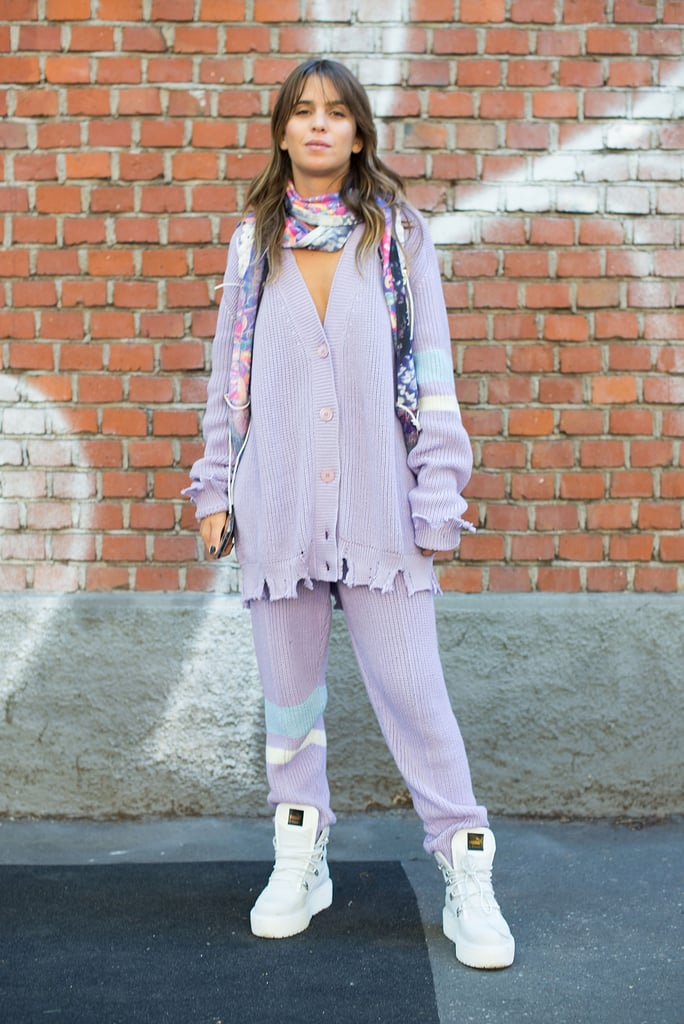 197d092324 Style a White Pair With a Lavender Outfit