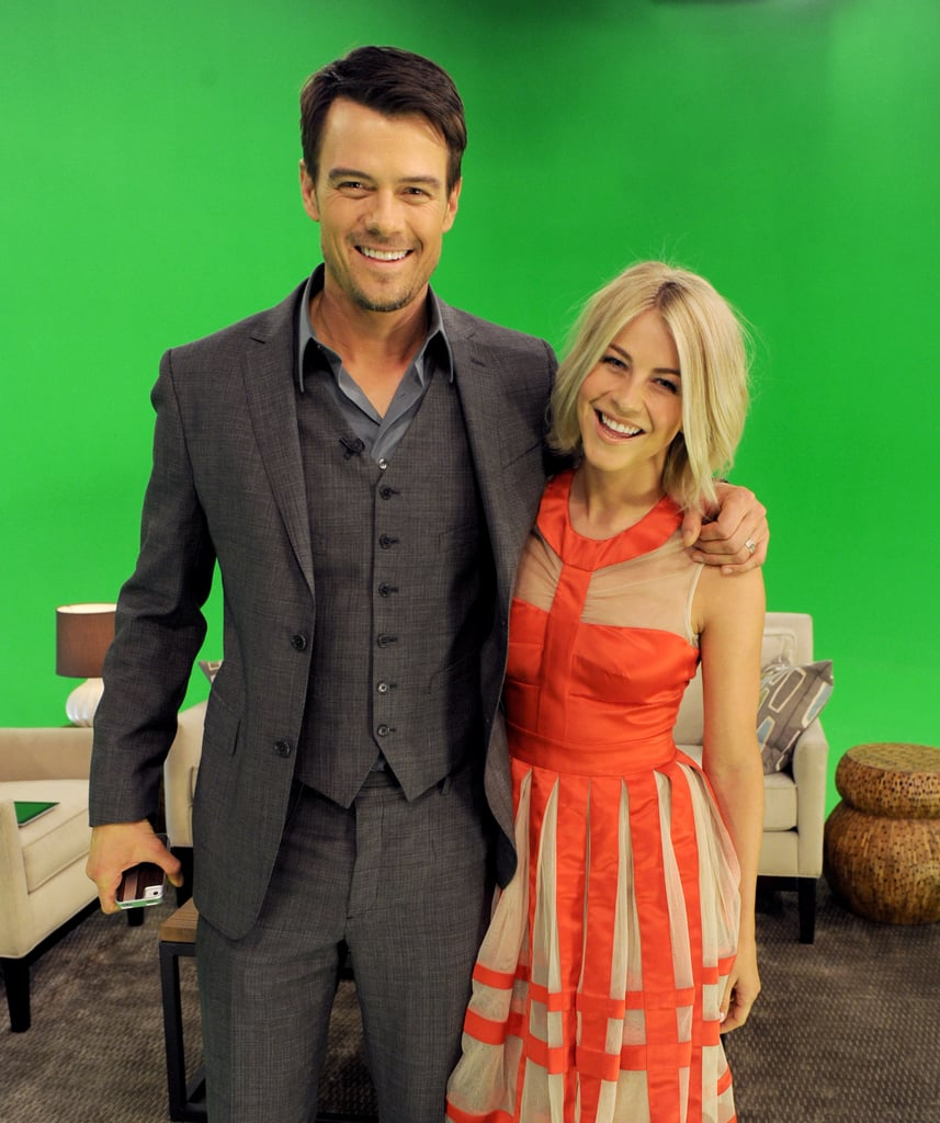 Julianne Hough and Josh Duhamel joined the author of Safe Haven, Nicholas Sparks, last night for a special fan event. The trio, along with producers Wyck Godfrey and Marty Bowen, sat down with host Maria Menounos for an interview about the movie. The evening also included several sneak peeks at moments from the film. Julianne, who wore a tea-length Temperley London dress for last night's appearance, has been keeping busy promoting her second big-screen project — and so has Josh. In fact, Josh visited the PopSugar US offices with Nicholas earlier this week to meet the editors and pose for some fun photo-booth pictures. Safe Haven hits cinemas on Valentine's Day and will mark the eighth movie adaptation of one of Nicholas' books.