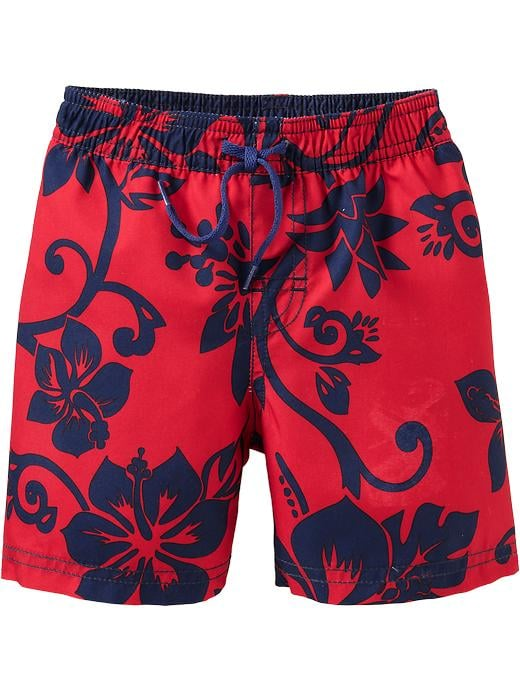 7689557512f90 For Babies and Little Boys: Old Navy Hibiscus Print Swim Trunks ...