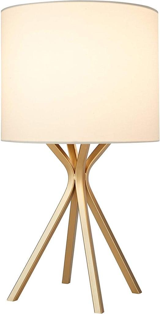 Rivet Gold Bedside Table Desk Lamp