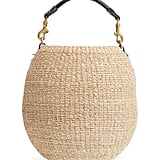 Clare V. Pot de Miel Top Handle Straw Basket Bag