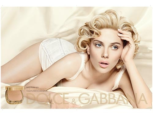 Scarlett Johansson For Dolce & Gabbana the Makeup