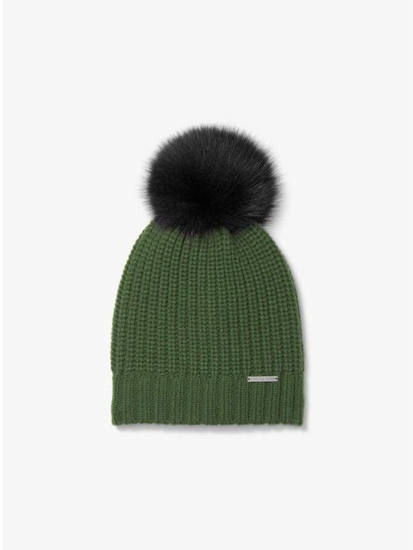 04c3ea78da743 Michael Kors Fur Pom-Pom Beanie ( 98)