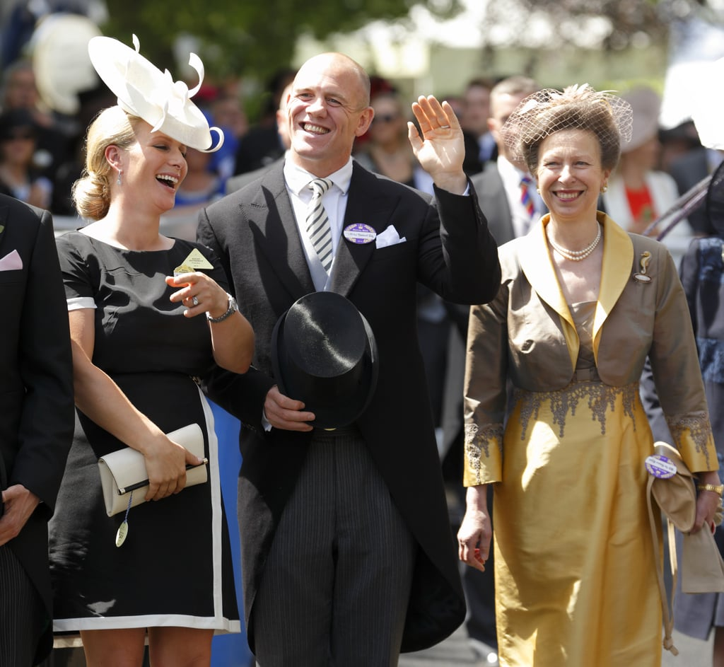 Princess Anne With daughter Zara Phillips and Son-in-Law Mike Tindall in Ascot, England, in 2014