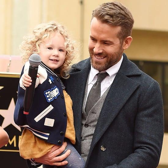 Ryan Reynolds Blake Lively's Daughter James at Walk of Fame