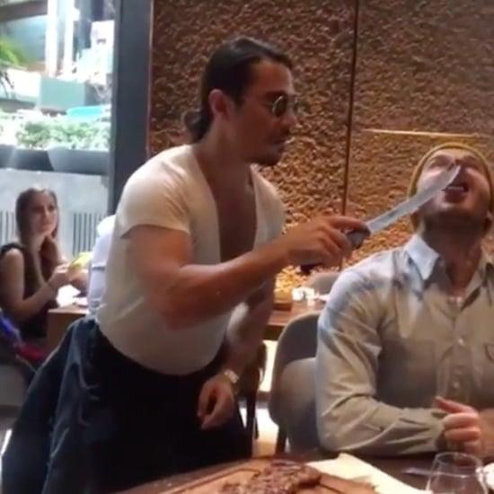ديفيد بيكهام يزور المنفذ النيويوركيّ من سلسلة مطاعم حبّيب ال