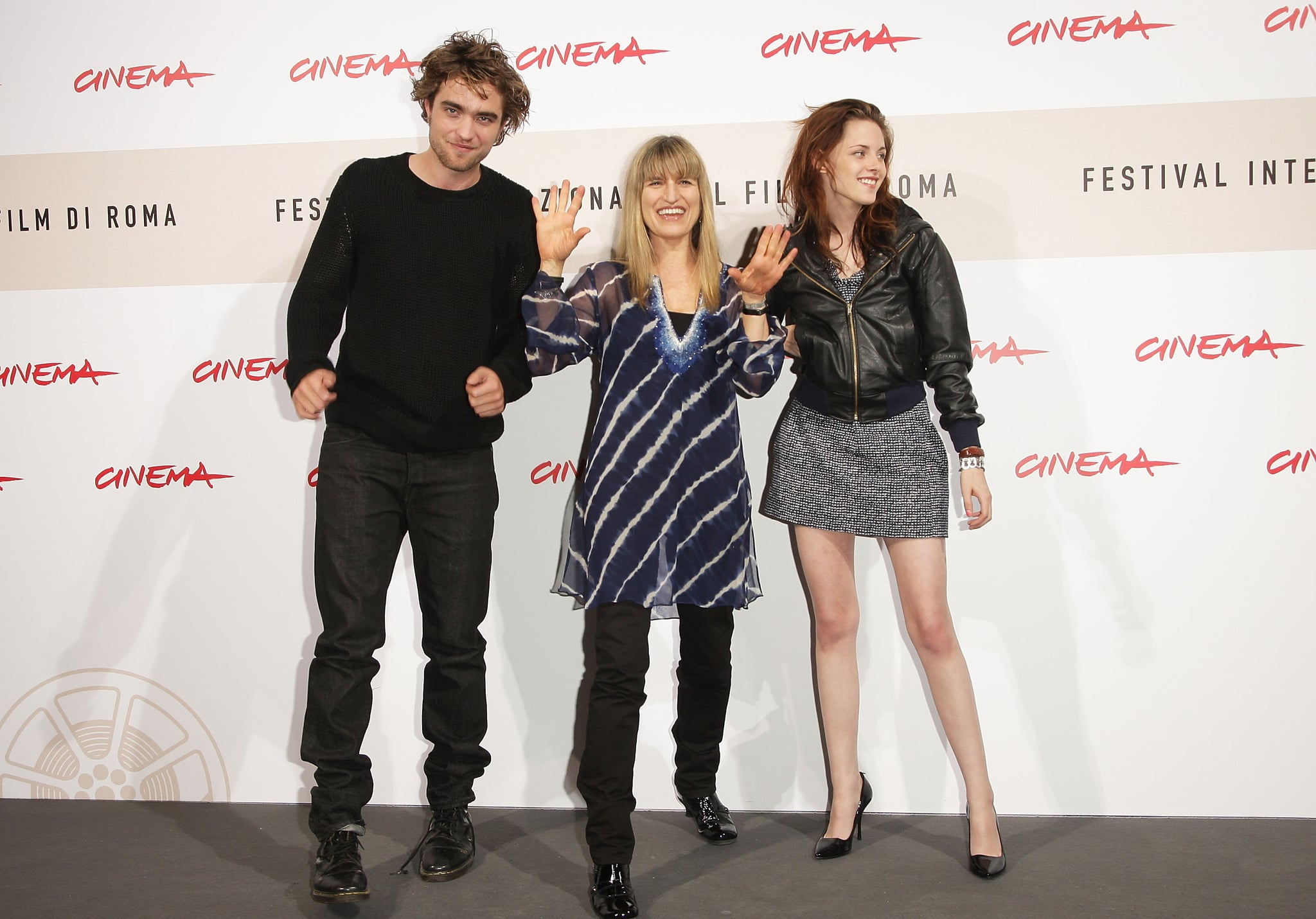 ROME - OCTOBER 30:  Actor Robert Pattinson, director Catherine Hardwicke and actress Kristen Stewart attends the 'Twilight'  Photocall during the 3rd Rome International Film Festival held at the Auditorium Parco della Musica on October 30, 2008 in Rome, Italy.  (Photo by Franco Origlia/Getty Images)