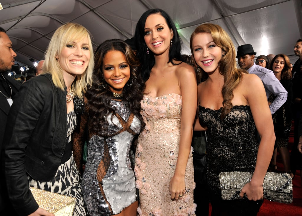 Natasha Bedingfield, Christina Milian, Katy Perry, and Julianne Hough all donned gorgeous gowns on the red carpet in 2010.