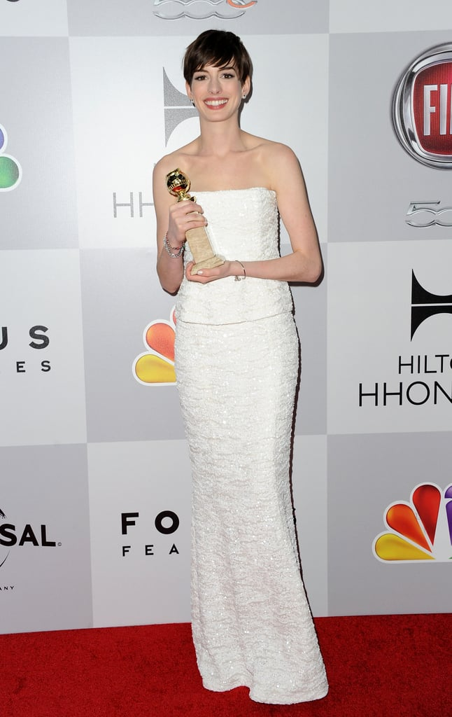 Anne Hathaway won best supporting actress.