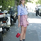 A Plaid Skirt With a Button-Down Shirt